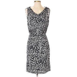 Love Moschino Black White Animal Print Dress
